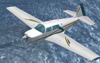 Screenshot of Mooney M20J N623SP in flight.