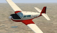 Screenshot of Mooney M20J N97TN in flight.