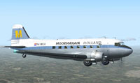Screenshot of Moormanair Douglas DC-3 in flight.