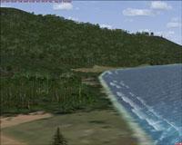 Screenshot of waves along the coast.