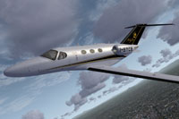 Screenshot of MyJet Citation 510 Mustang in flight.