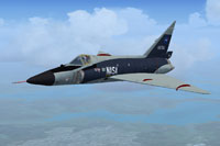 Screenshot of NASA Convair F-102A in flight.
