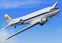 Screenshot of NASA Douglas DC-3 in the air.