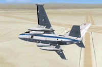 Screenshot of NASA S-3B Viking in flight.