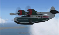 Screenshot of NIA Grumman G21A Goose in flight.