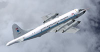 Screenshot of NOAA Hurricane Hunters Lockheed WP-3D in flight.