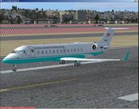 Screenshot of NUMA CRJ-200ER on runway.