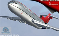 Screenshot of NWA Boeing 727-200 in flight.