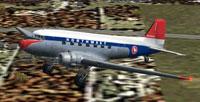 Screenshot of NWA Douglas DC-3 in flight.