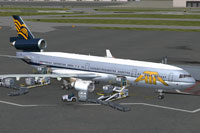 Screenshot of ATA/NWA Hybrid MD-11 with ground services.
