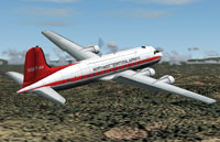Screenshot of NWT Douglas DC-4 in flight.
