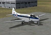 Screenshot of NZ Warbirds DeHavilland DH104 Dove on the ground.