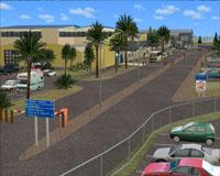 Screenshot of Napier Airport scenery.