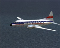 Screenshot of National Airlines Convair 340 in flight.
