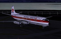 Screenshot of National Airways Vickers Viscount on runway.