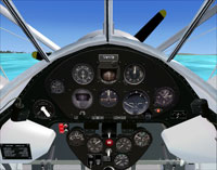 Screenshot of Swingman J2F virtual cockpit.