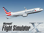 Splash Screen featuring an American Airlines 737-800 in flight.