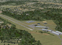 Aerial view of New Garden Airport.