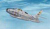 Screenshot of F-84F in flight.