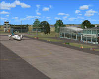 Screenshot of New Plymouth Airport scenery.