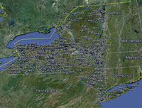 Overview of New York Airfields.