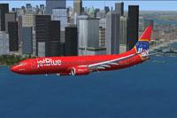 Screenshot of Jetblue Boeing 737-800 in flight.