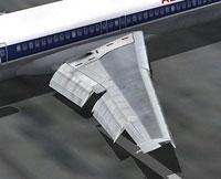 Screenshot of B727-200 wing.
