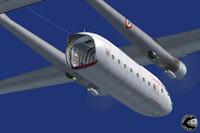 Screenshot of Nord 2501 Noratlas in the air.