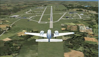 Screenshot of plane on approach to Nordholz Navy Airfield.