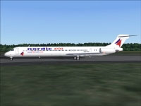 Screenshot of Nordic Airlink/Fly Nordic MD-81 on the ground.