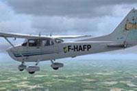 Screenshot of Normand Cessna 172 F-HAFP in flight.