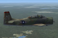Screenshot of North American Aviation AT-28 Trojan in flight.