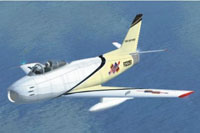 Screenshot of North American F-86 Sabre in flight.