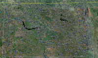 Overview of North Dakota Airfields.