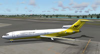 Screenshot of Northeast Airlines Boeing 727-295 on the ground.