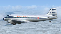 Screenshot of Northeast Airlines Douglas DC-3 in flight.