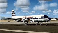 Screenshot of Northeast Airlines Douglas DC-6B on the runway.