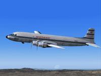 Screenshot of Northeast Airlines Douglas DC-6B in flight.