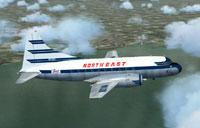 Screenshot of Northeast Convair 240 in flight.