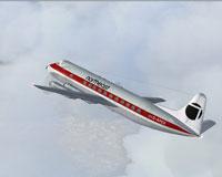 Screenshot of Northeast Viscount 806 in flight.