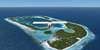 Plane flying over Northern Cook Islands.