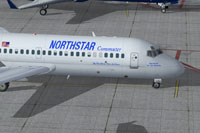 Screenshot of Northstar Commuter McDonnell Douglas DC-9-20 on the ground.