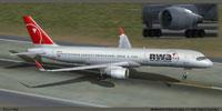 Screenshot of Northwest Airlines Boeing 757-200 taking off.