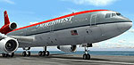 Screenshot of Northwest Airlines Douglas DC-10-30 on the ground.