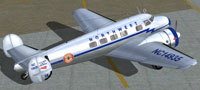 Screenshot of Northwest Airlines Lockheed Electra on the ground.