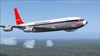 Screenshot of Northwest Boeing 707-320ADV in flight.