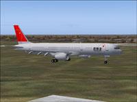 Screenshot of Northwest Boeing 757-200 on the ground.