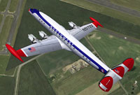 Screenshot of Northwest Orient Airlines Lockheed in flight.