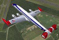Screenshot of Northwest Orient Airlines Lockheed in flight.