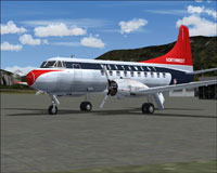 Screenshot of Northwest Orient Airlines Martin 202 on the ground.